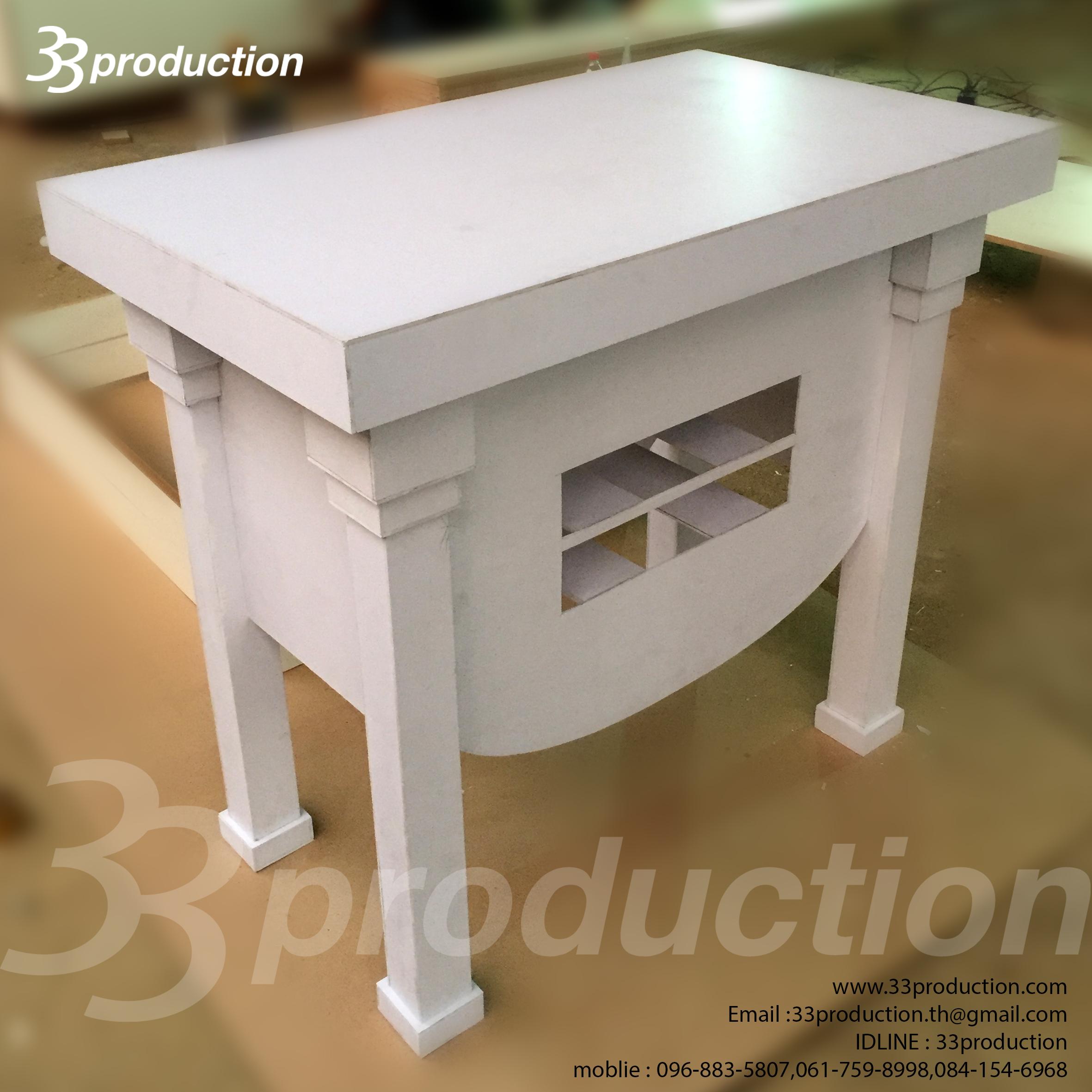 รับทำตู้โชว์ เคาร์เตอร์ ไม้ งานเฟอร์นิเจอร์ ลอยตัว ตู้กระจก แท่งโชว์สินค้า FB04-59016